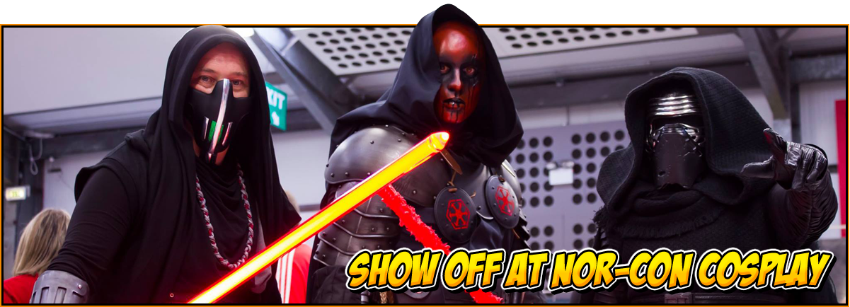 Show off an NOR-CON cosplay | Image of Star Wars cosplayers, including Kylo Ren | Enter the cosplay competition at the NOR-CON Norfolk TV, Film & Comic Con