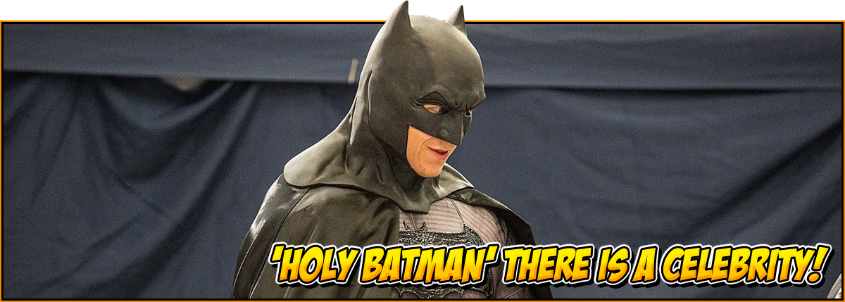Holy Batman there is a celebrity! | image of a batman cosplay | feature image for the NOR-CON special guests page