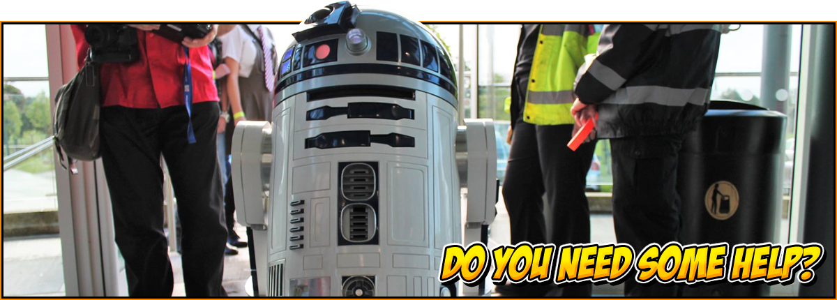 Do you need some help? | R2D2 in the NOR-CON entrance hall | NOR-CON ticket help header