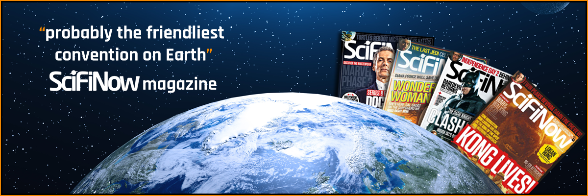 "Sci-FiNow magazine banner reads NOR-CON is ""probably the friendliest convention on Earth"""