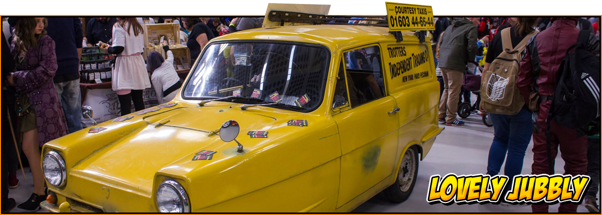 Del Boy Trotters van on display at the NOR-CON 6 event