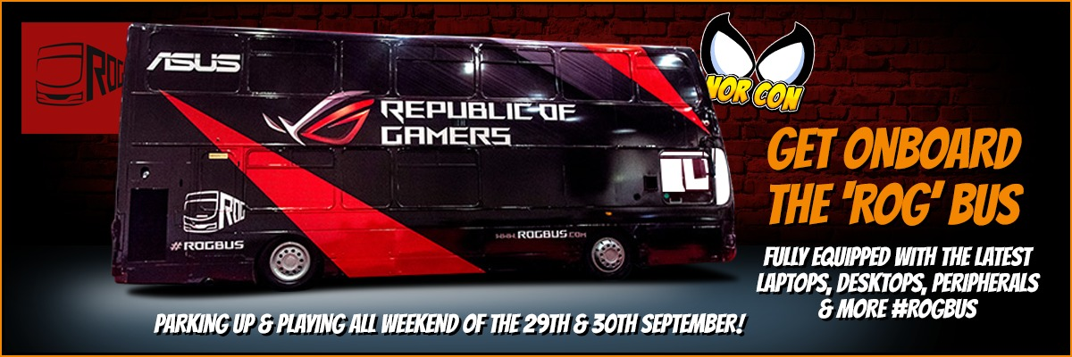 Get onboard the ROG bus at NOR-CON 29th & 30th September 2018