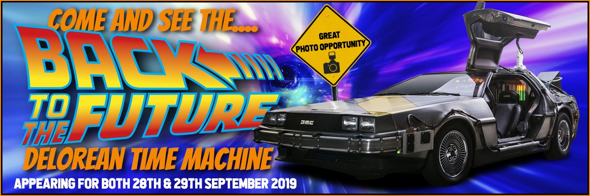 The Back to the Future Delorean photo opportunity at NOR-CON 2019