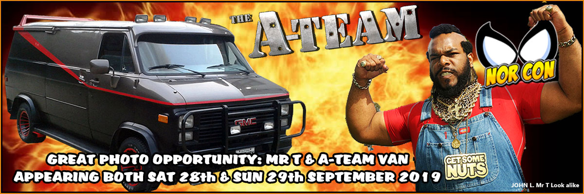 Come see the A-Team van and Mr T lookalike John L. at NOR-CON